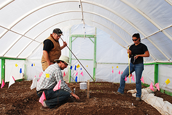 Hoop House with Students