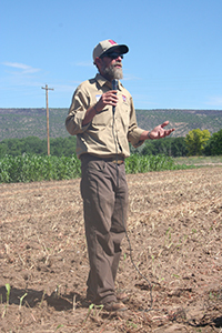 Man with mic speaking at Field Day 2016